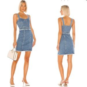 NWT 7 For All Mankind Fray Dress Luxe Vintage Muse